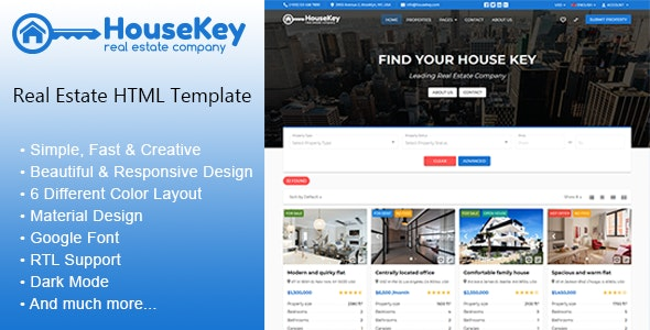 HouseKey - Real Estate HTML Template - Business Corporate