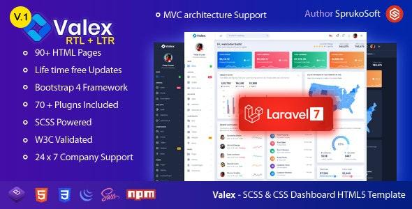 Valex – Laravel Admin Template - Admin Templates Site Templates
