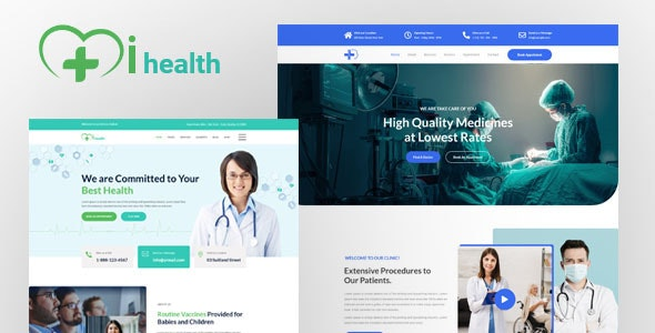 ihealth- Medical XD Template - Health & Beauty Retail