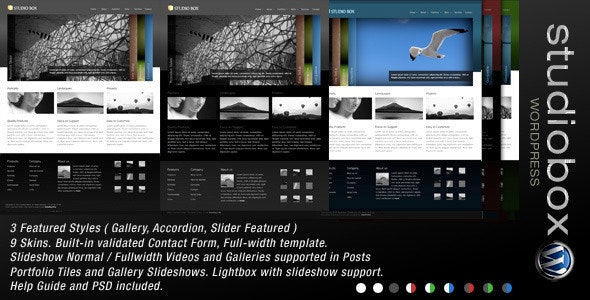 Studio Box | WordPress Theme - Portfolio Creative