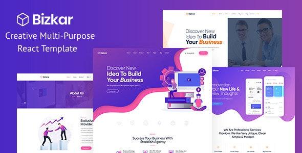 Bizkar - Creative Multi-Purpose React Template - Business Corporate
