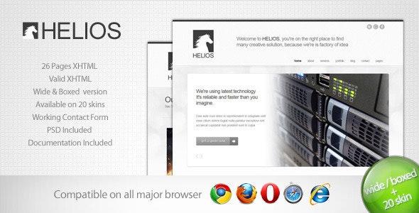 Helios - Minimalist Business Template 7 - Corporate Site Templates