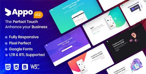appo | App Landing Page - Site Templates