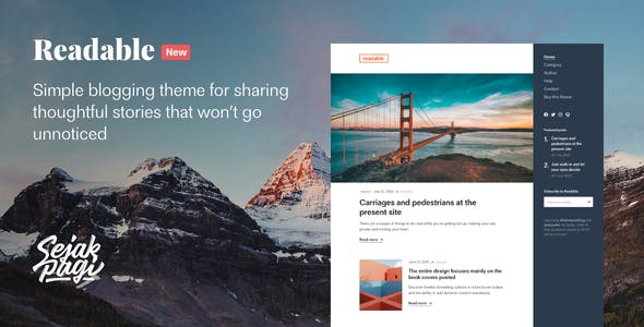 Download Readable: Simple Blogging Theme for Ghost