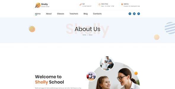 Shelly – School Template for Figma