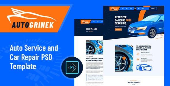 Autogrinek - Auto Service and Car Repair PSD Template