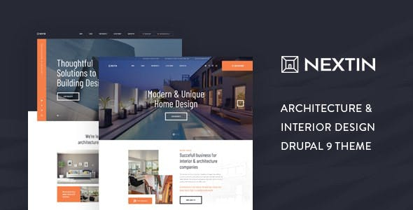 Download Nextin - Architecture & Interior Design Drupal 9 Theme