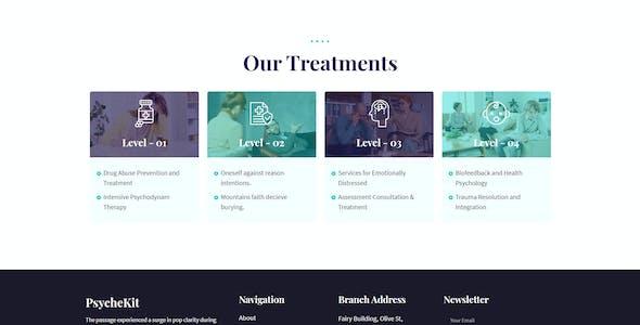 PsycheKit - Psychologist & Hypnotherapy Elementor Template Kit