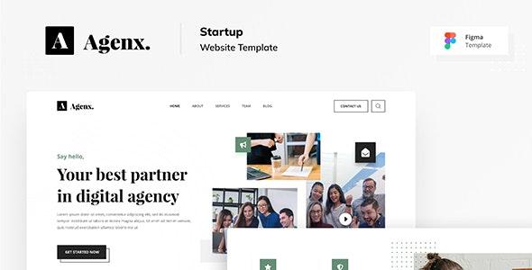 Agenx Startup Website Figma Template - Business Corporate