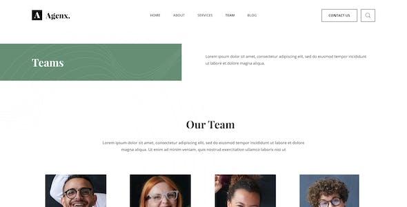 Agenx Startup Website Figma Template