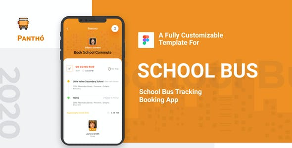 Panthó | School Bus Tracking Figma Template