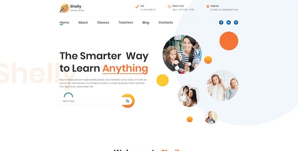 Shelly – School Template for XD