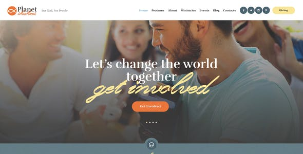 Planet Shakers | Church & Religion WordPress Theme