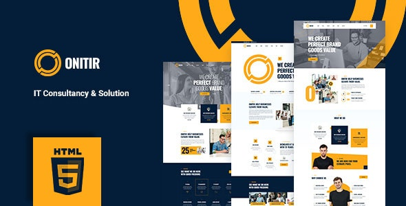 Onitir- IT Solutions HTML Template - Business Corporate