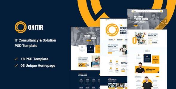 Onitir - IT Solutions PSD Template
