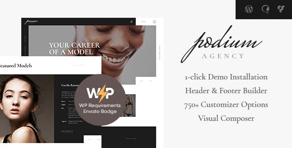 Podium | Fashion Model Agency WordPress Theme