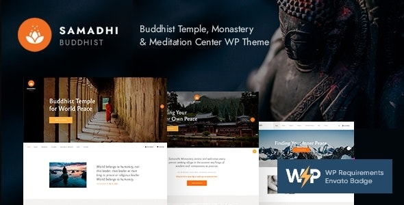 Samadhi | Oriental Buddhist Temple WordPress Theme - Churches Nonprofit