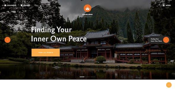 Samadhi   Oriental Buddhist Temple WordPress Theme