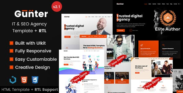 Gunter - IT & SEO Agency HTML Template