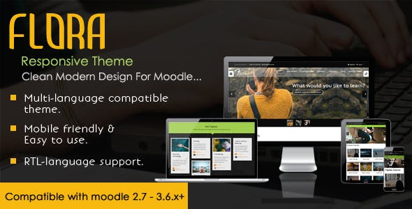 Download Flora - Responsive Moodle Theme