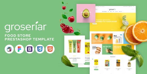 Groseriar - Food Delivery PrestaShop Theme, Online Supermarket - Shopping PrestaShop