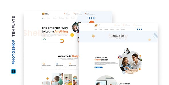 Shelly – School Template for Photoshop