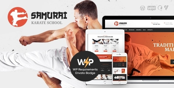 Samurai | Karate School and Fitness Center WordPress Theme - Health & Beauty Retail