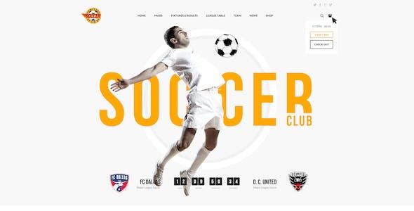 Soccer Club - Football Team WordPress Theme