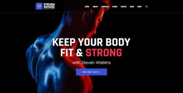 Steven Watkins   Personal Gym Trainer & Nutrition Coach WordPress Theme