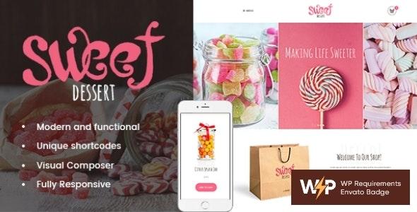 Sweet Dessert | Candy Shop & Cafe WordPress Theme - Food Retail