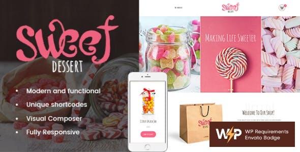 Sweet Dessert | Candy Shop & Cafe WordPress Theme