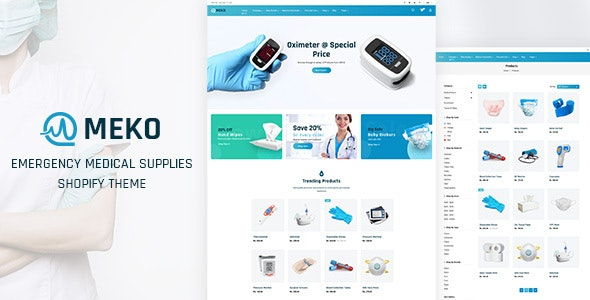 Meko - Medical Store Shopify Theme - Health & Beauty Shopify