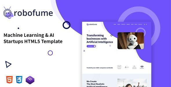 Robofume - Machine Learning & AI Startups HTML5 Template