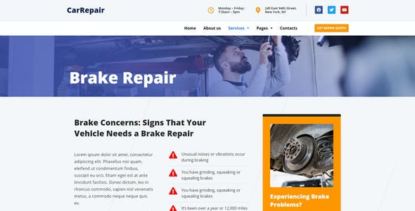 CarRepair - Local Business Template Kit
