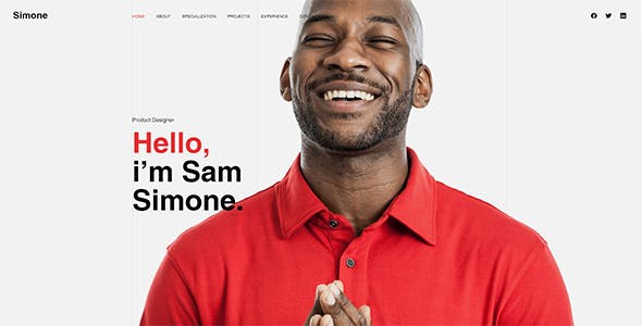Simone - Onepage Personal CV/Resume HTML Template