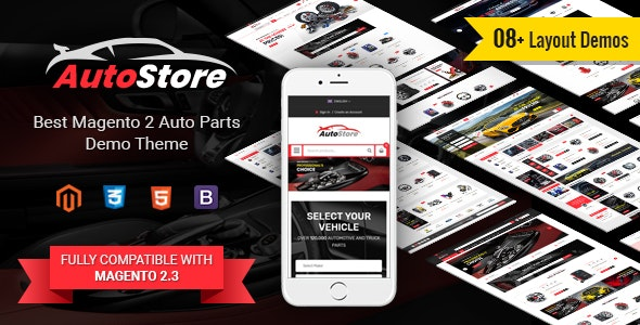 AutoStore - Auto Parts and Equipments Magento 2 Theme with Ajax Attributes Search Module by magentech
