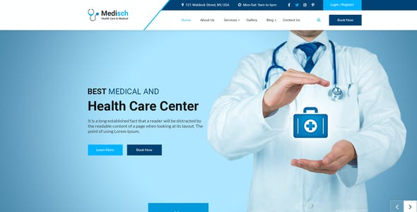 Medisch health care appointment PSD template
