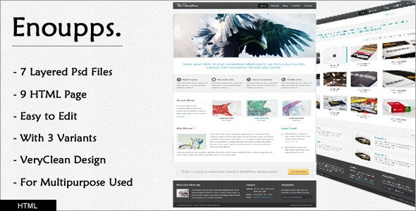 Enoupps - Business oriented HTML template - Corporate Site Templates