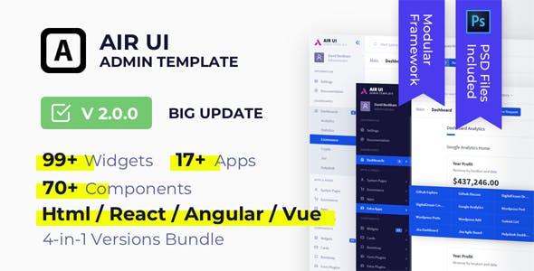 Air UI — Multi Concept Admin Template