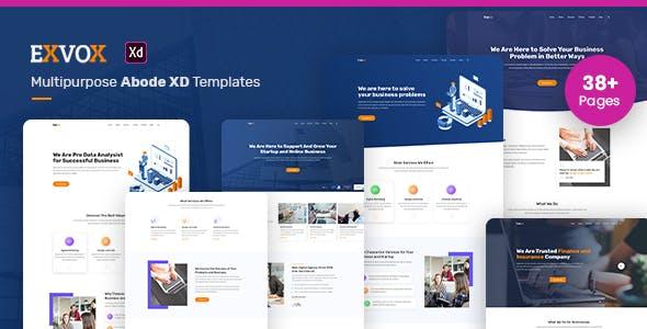 Exvox - Multipurpose Adobe XD Template
