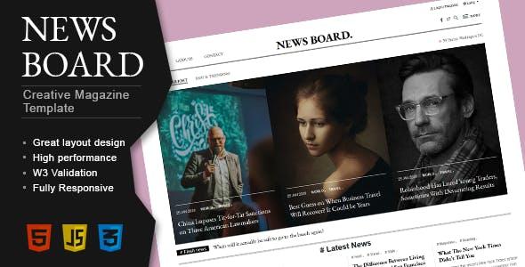 Newsboard - Creative Blog/Magazine/Publisher HTML Template