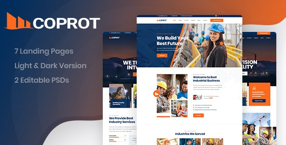 Coprot - Factory & Industrial PSD Template - Business Corporate