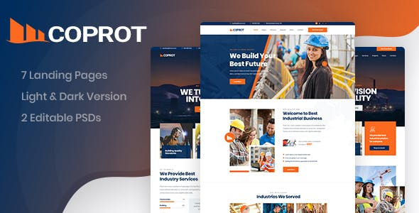 Coprot - Factory & Industrial PSD Template