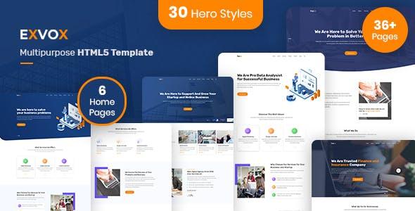 Exvox - Multipurpose HTML5 Template
