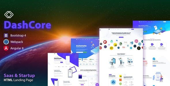 DashCore - Startup, App, SaaS & Software HTML Template