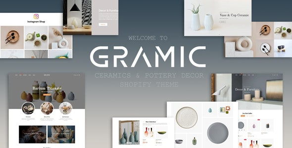 Gramic - Ceramics & Pottery Decor Shopify Theme - Shopify eCommerce
