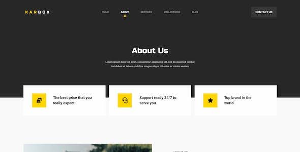 Karbox - Car Dealer Website Figma Template