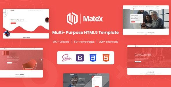 Matex - Mega Responsive Multipurpose HTML5 Template - Creative Site Templates
