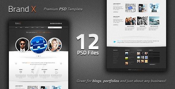 Brand X - Premium PSD Template - Creative Photoshop