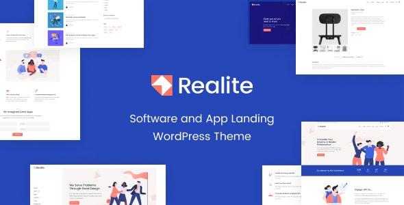 Realite - A WordPress Theme for Startups - Software Technology